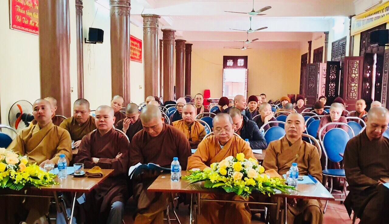 Thành phố Phủ Lý: Hội Nghị tổng kết công tác Phật Sự năm 2019