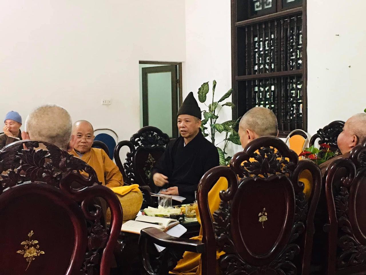 Họp Thường trực Ban Trị sự Giáo Hội Phật Giáo Việt Nam tỉnh Hà Nam