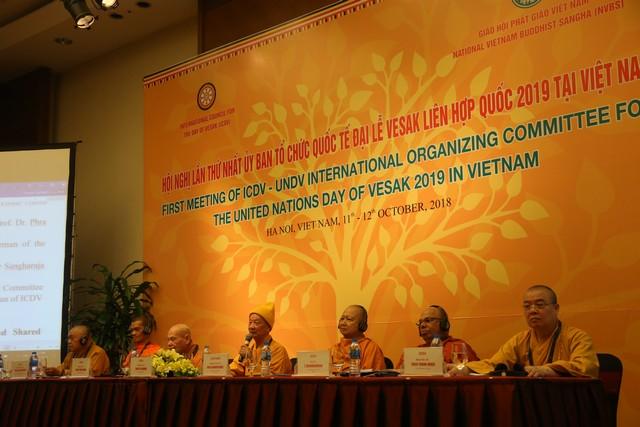 Hà Nội: Khai mạc Hội nghị lần thứ nhất ICDV Ủy ban tổ chức Quốc tế Đại lễ Vesak LHQ 2019 tại Việt Nam
