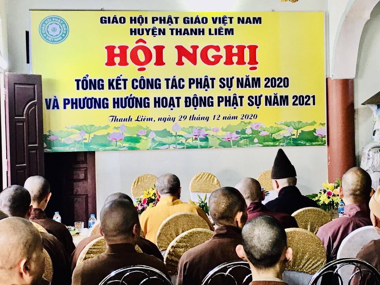 Huyện Thanh Liêm: Ban Trị sự Phật giáo huyện tổng kết công tác Phật sự năm 2020