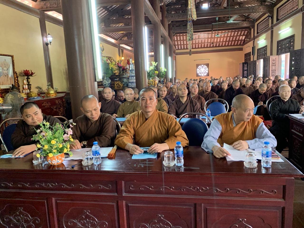 Hội nghị tập huấn Luật tín ngưỡng Tôn giáo cho Tăng, Ni trường hạ chùa Bầu năm 2019