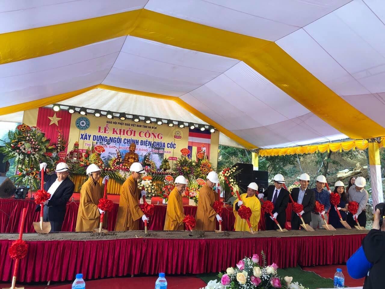 Hà Nam: lễ động thổ khởi công ngôi Chùa Cốc (Thiên Phúc Tự), thị trấn Ba Sao, Kim Bảng, Hà Nam.