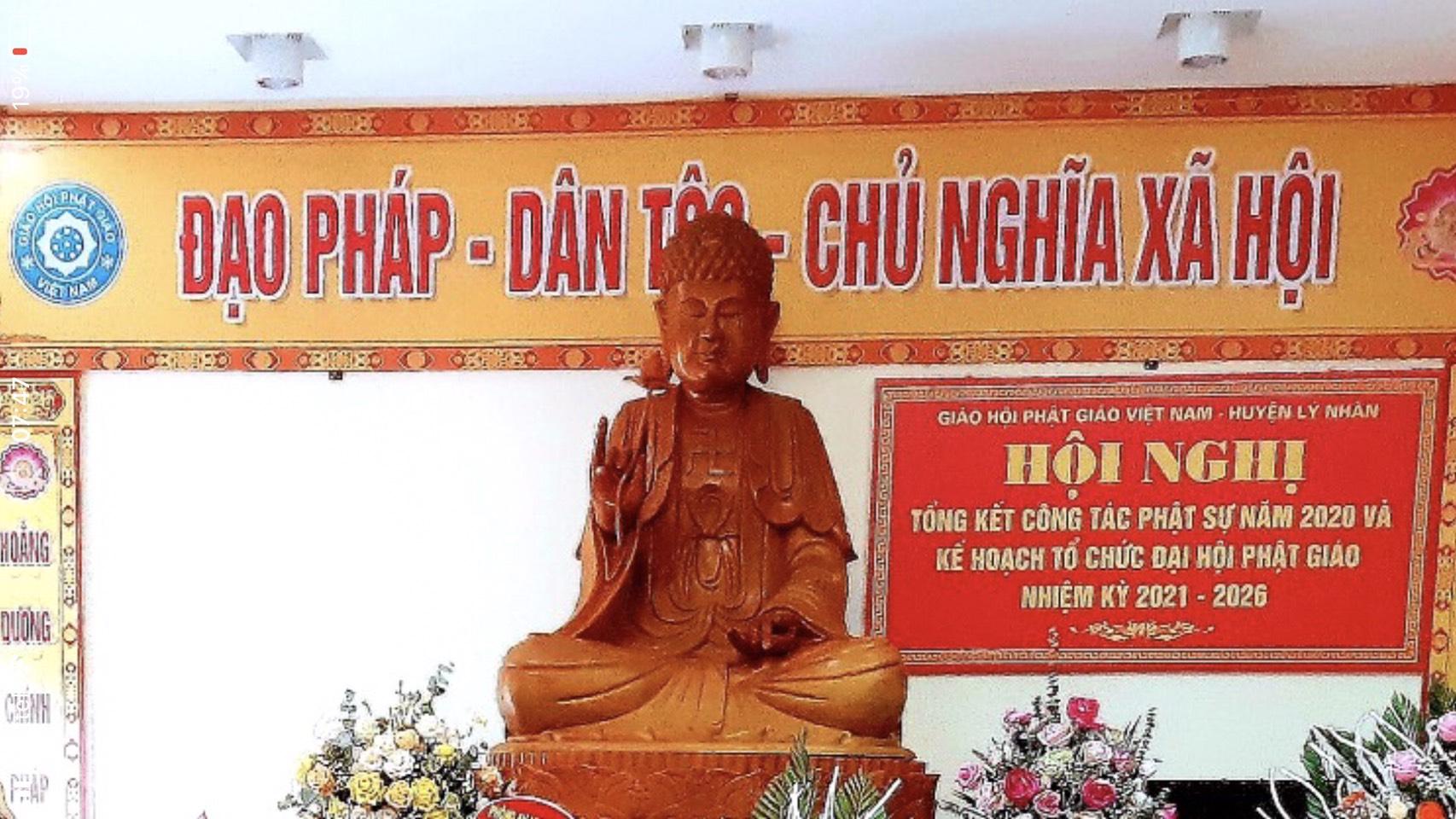 Huyện Lý Nhân:  Hội nghị tổng kết công tác Phật sự năm 2020 và phương hướng hoạt động Phật sự năm 2021