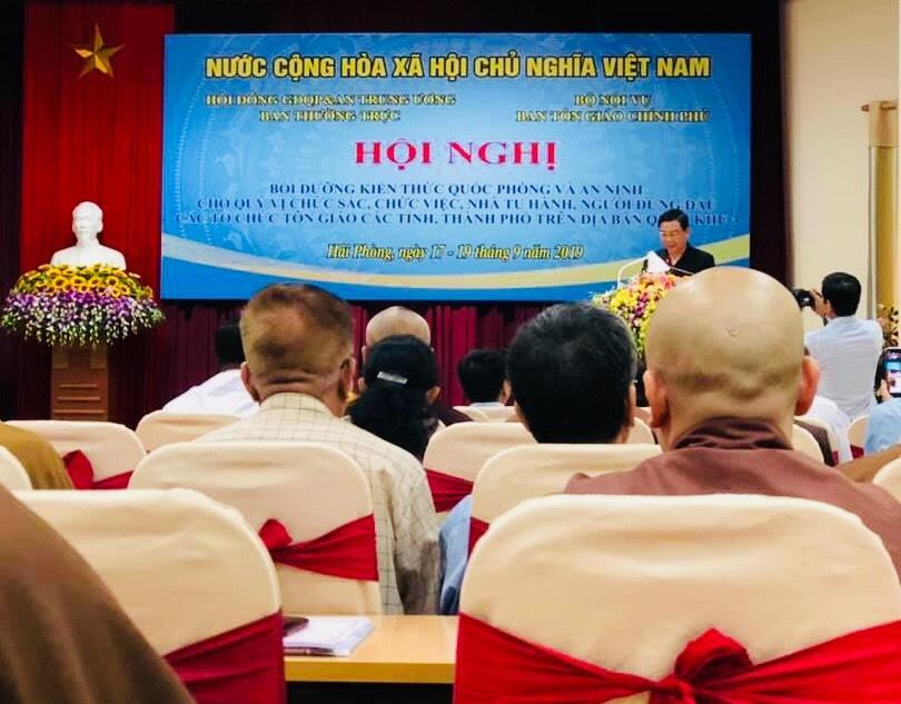 Hà Nam: Đoàn Đại Biểu BTS GHPGVN tỉnh Hà Nam tham dự hội Nghị Bồi dưỡng kiến thức quốc phòng và an ninh