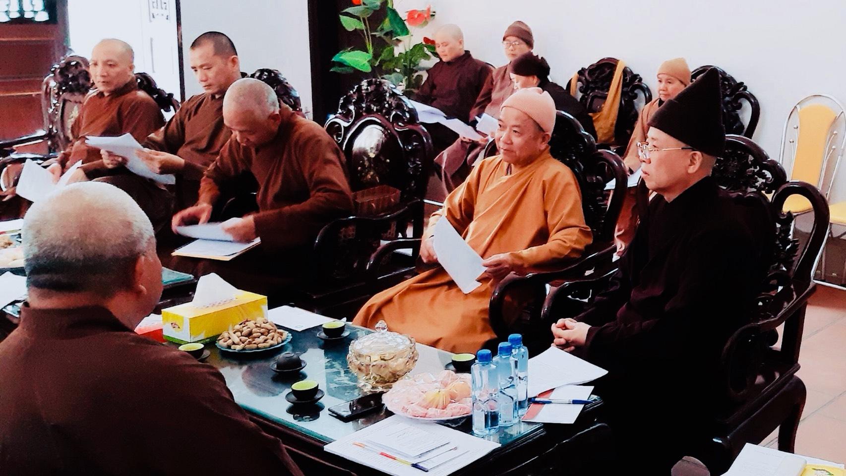 Hà Nam: Ban Trị Sự GHPGVN tỉnh họp Báo cáo tổng kết công tác Phật sự năm 2019 và chương trình hoạt động 06 tháng đầu năm 2020 tại trụ sở Tỉnh Hội.