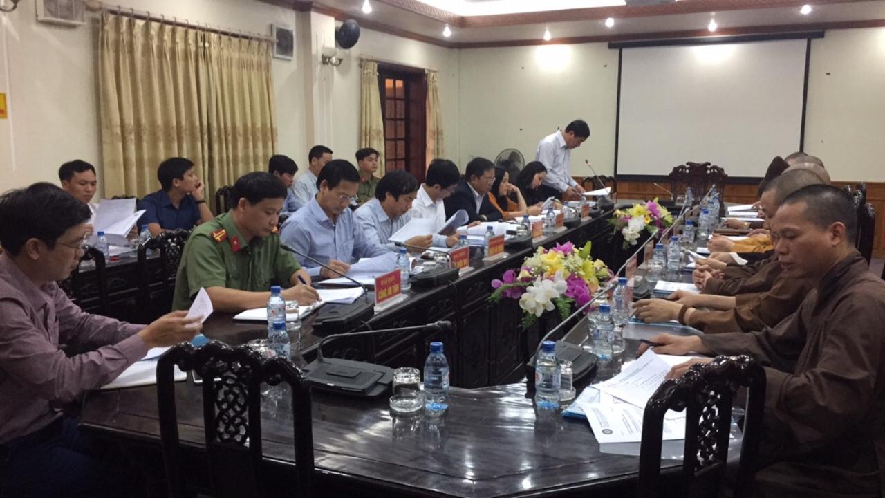 [HÀ NAM] Họp về công tác chuẩn bị Đại lễ Vesak Liên hợp quốc 2019 tại UBND tỉnh Hà Nam.
