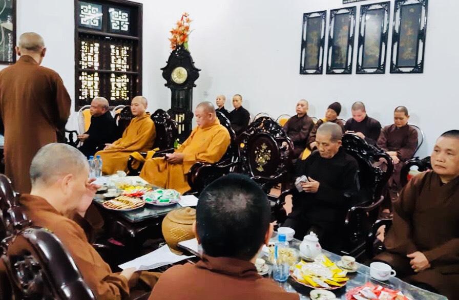 Hà Nam: Họp Thường Trực Ban Trị Sự GHPGVN tỉnh Hà Nam tại trụ sở Tỉnh Hội.