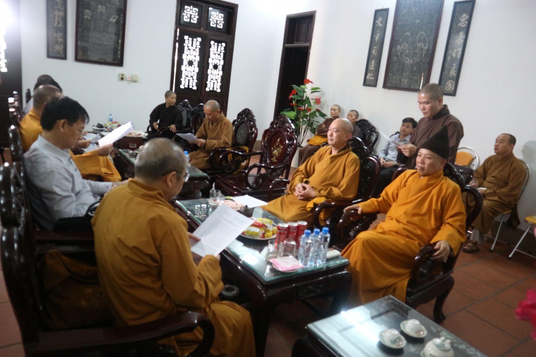 Hà Nam: Ban Trị Sự Phật giáo Tỉnh Họp Rà Soát Triển Khai Kế Hoạch Phối Hợp với GHPGVN Tổ Chức Đại Lễ Vesak Liên Hiệp Quốc 2019.