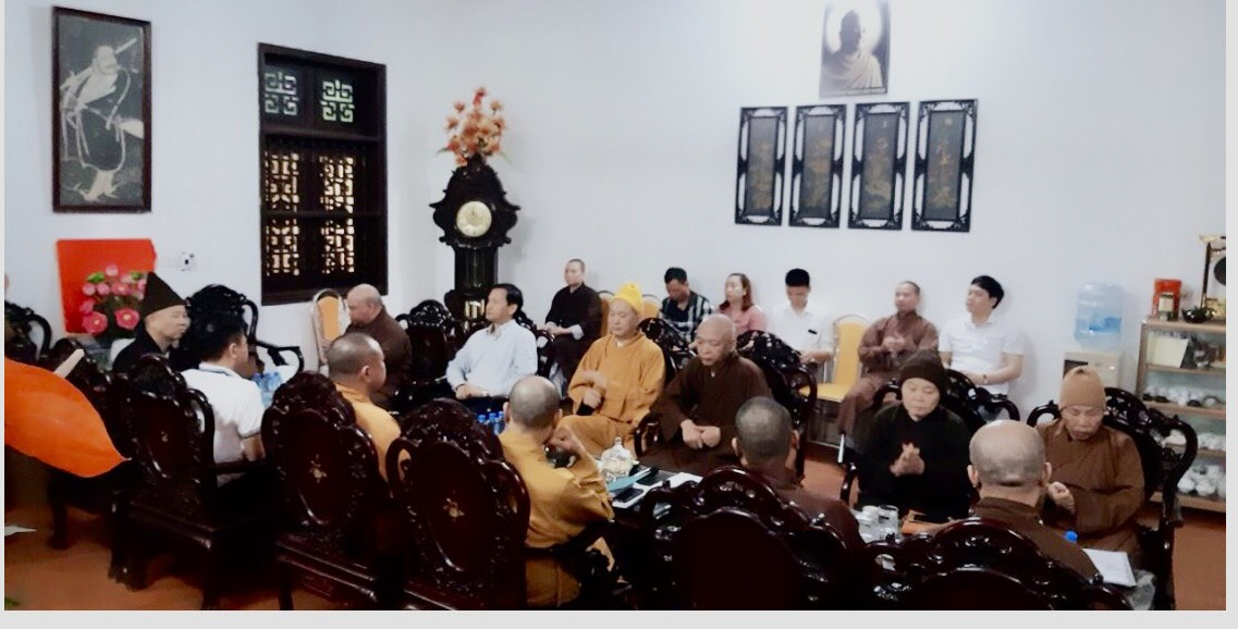 Thường Trực BTS GHPGVN tỉnh Hà Nam  họp về công tác tổ chức Đại hội đại biểu Phật giáo cấp huyện, thị xã, thành phố,  tại trụ sở Ban Trị sự PG Hà Nam