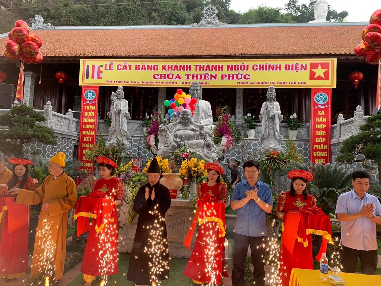 Huyện Kim Bảng: Lễ lạc thành Chính điện chùa Thiên Phúc
